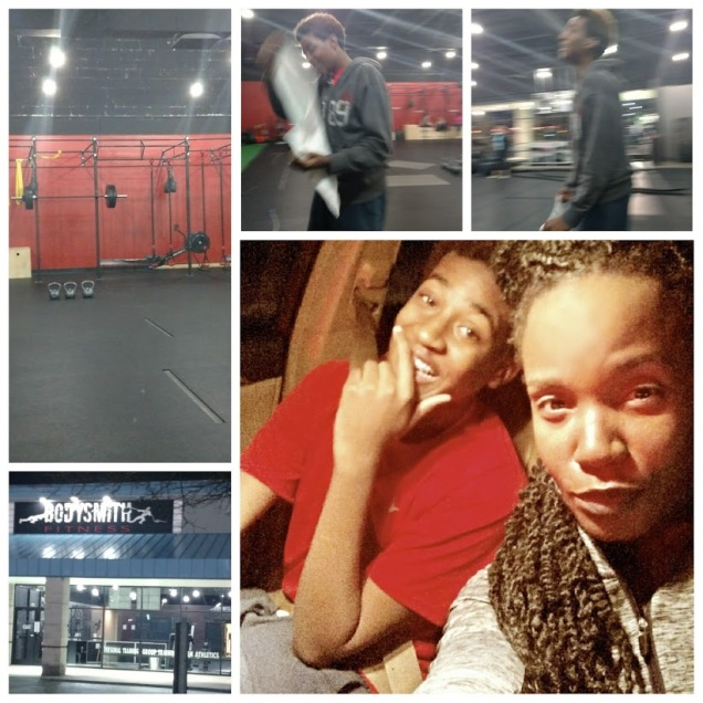 Allo and I put in work at BodySmith Fitness....