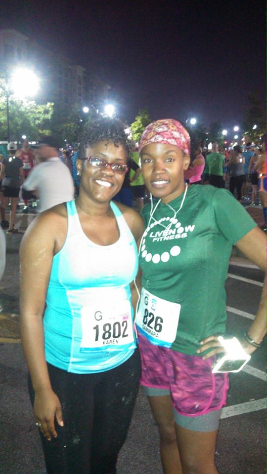 My very first half with my sole sistah Karen!!!
