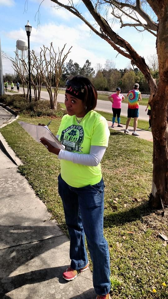 Amber volunteering in Elloree, SC