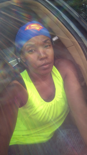 Heading in to boot camp...chanelling my inner power....cuz I sure wasn't feeling it today :-(